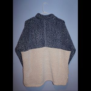 Time and Tru Jackets & Coats - Super cozy color block teddy bear/sherpa half-zip